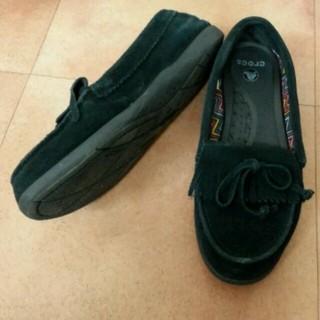 クロックス(crocs)の8000円 クロックス 24㎝ モカシン(ローファー/革靴)