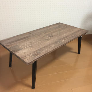 アンティーク風 折りたたみ式 ローテーブル(ローテーブル)