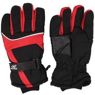 防風 防水グローブ 手袋 防寒 スノーボード スキー レッド(ウエア/装備)