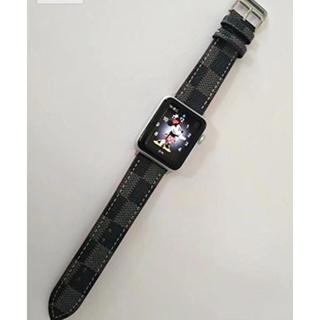 ☆アップルウォッチ レザーベルト オシャレ applewatch バンド(腕時計(デジタル))