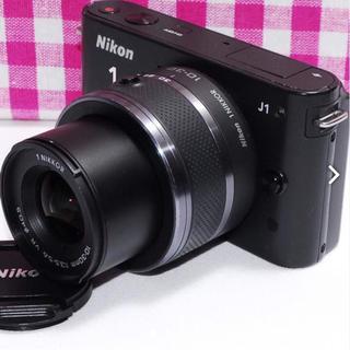 ニコン(Nikon)の❤お買い得❤決定的瞬間を逃さない❤Nikon1 J1 レンズキット⭐安心保証⭐(ミラーレス一眼)