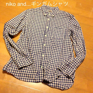 ニコアンド(niko and...)のniko and...ギンガム長袖シャツ(シャツ/ブラウス(長袖/七分))