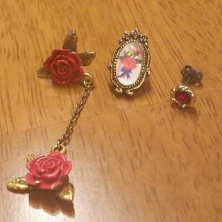 ジェーンマープル(JaneMarple)のJaneMarple 薔薇のピアス3コセット(ピアス)