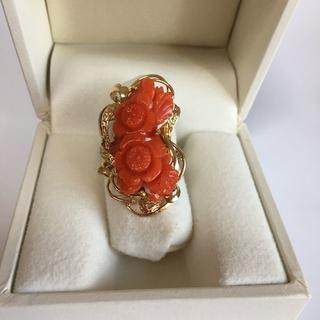 K14YG  珊瑚 デザインリング #15 (リング(指輪))