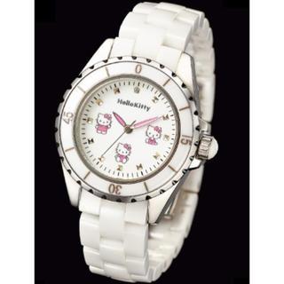 ハローキティ(ハローキティ)のハローキティ  ホワイトセラミック  腕時計 限定(腕時計)