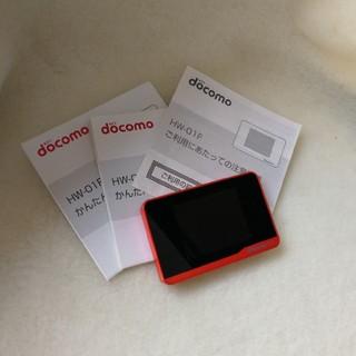 エヌティティドコモ(NTTdocomo)のdocomo Xi HW-01F wifiルーター(中古)(携帯電話本体)
