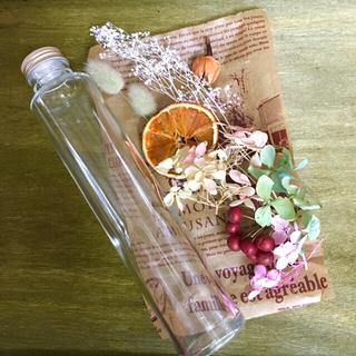 ハーバリウム花材&トール瓶セット(ドライフラワー)