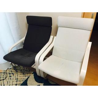 イケア(IKEA)のPOANG ポエング IKEA イケア 限定カラー フィーンスタグレー(一人掛けソファ)