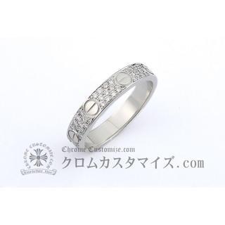 カルティエ(Cartier)の正規 カルティエ ミニラブリング 18KWG アフターダイヤ 51 11号 中古(リング(指輪))