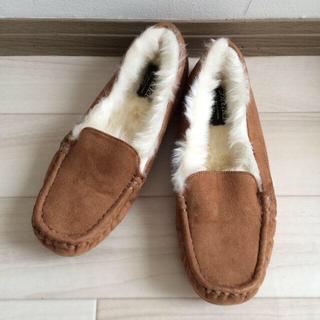 スナイデル(snidel)の新品★snidelムートンローファーL(ローファー/革靴)