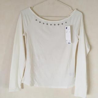 ジーユー(GU)のビジューオフショルダーTシャツ(Tシャツ(長袖/七分))