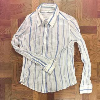 ベルメゾン(ベルメゾン)の長袖ストライプシャツ(シャツ/ブラウス(長袖/七分))