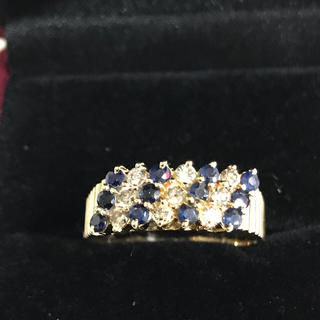 k18サファイヤダイヤモンドリング(リング(指輪))