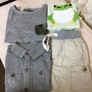 ムジルシリョウヒン(MUJI (無印良品))の春夏物 4枚セット 90(Tシャツ/カットソー)