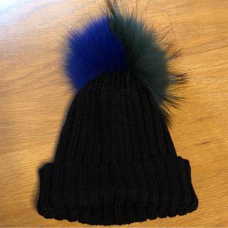ルシェルブルー(LE CIEL BLEU)のニットキャップ(ニット帽/ビーニー)
