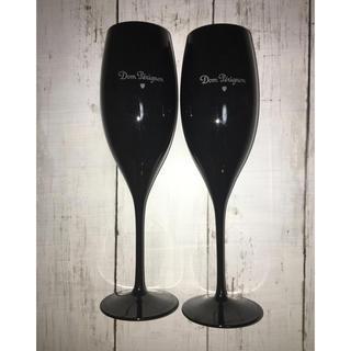 ドンペリニヨン(Dom Pérignon)の【2セット・送料込み】ドン・ペリニヨン ブラック ワイングラス(グラス/カップ)