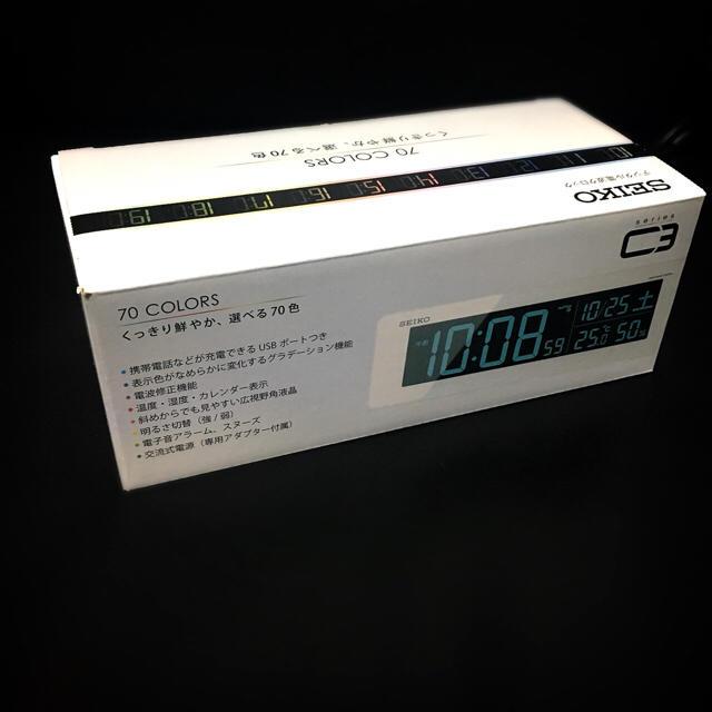 SEIKO(セイコー)のSEIKO セイコー デジタル電波時計  インテリア/住まい/日用品のインテリア小物(置時計)の商品写真