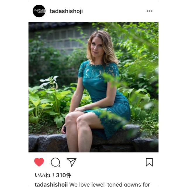 TADASHI SHOJI(タダシショウジ)の【新品タグ付】Tadashi shoji 2018SS 公式インスタ掲載XS レディースのワンピース(ひざ丈ワンピース)の商品写真