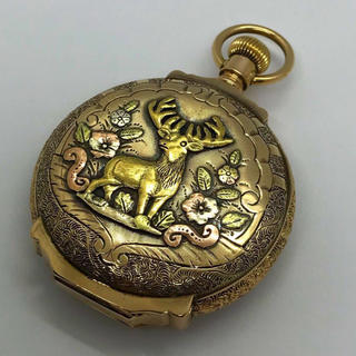ウォルサム(Waltham)の特別価格 1859年★懐中時計 14k 金無垢 マルチカラー ウォルサム6s(その他)