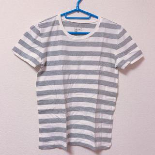 ムジルシリョウヒン(MUJI (無印良品))のボーダーTシャツ 無印良品(Tシャツ(半袖/袖なし))