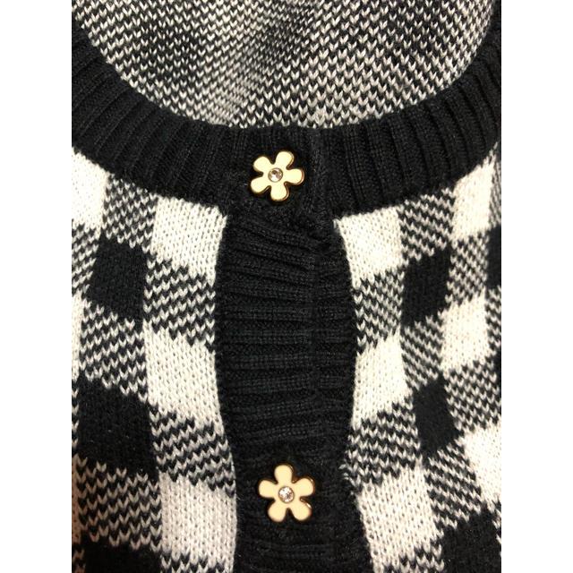 しまむら(シマムラ)のしまむら ギンガムチェックカーディガン お花ボタン レディースのトップス(カーディガン)の商品写真