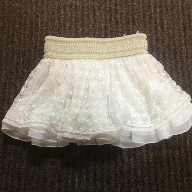 しまむら(シマムラ)のレーススカート 110cm キッズ/ベビー/マタニティのキッズ服 女の子用(90cm~)(スカート)の商品写真