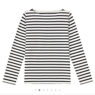 ムジルシリョウヒン(MUJI (無印良品))の無印良品 ボーダーTシャツ オーガニックコットン(Tシャツ(長袖/七分))