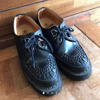 ジョージコックス(GEORGE COX)のジョージコックス ラバーソール  uk8 黒 ブラック(ブーツ)