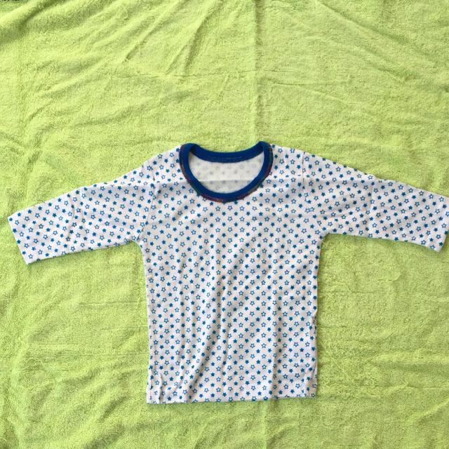 しまむら(シマムラ)の【新品】フライス長袖シャツ肌着インナー3枚セット80 キッズ/ベビー/マタニティのベビー服(~85cm)(肌着/下着)の商品写真