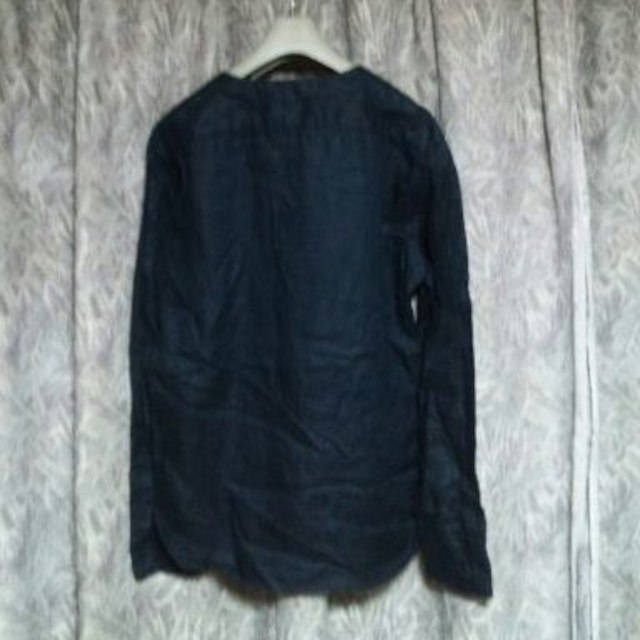 ZARA(ザラ)のZARA MANインディゴノーカラーシャツジャケット メンズのトップス(シャツ)の商品写真