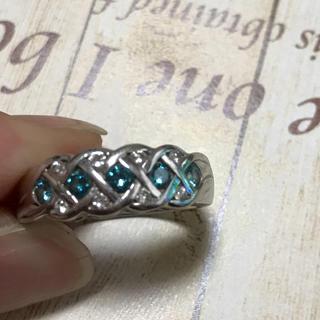ブルーダイヤのリング 指輪(リング(指輪))