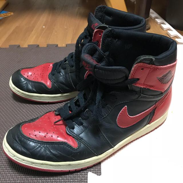 NIKE(ナイキ)のエア ジョーダン1 94復刻 bred 赤 黒 28.5㎝ メンズの靴/シューズ(スニーカー)の商品写真