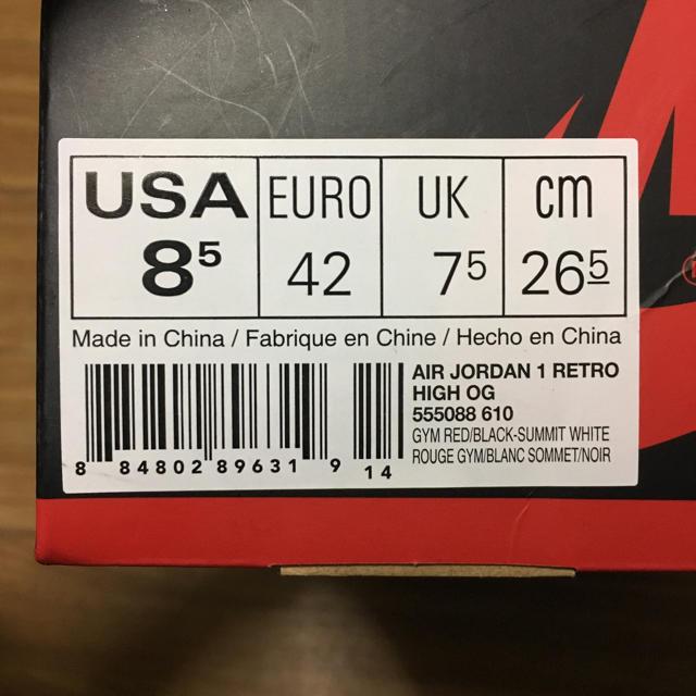 NIKE(ナイキ)の新品 AIR JORDAN 1 RETRO HIGH OG BRED TOE メンズの靴/シューズ(スニーカー)の商品写真