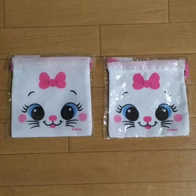 Disney(ディズニー)の新品 マリーちゃん 巾着 2枚セット ディズニー レディースのファッション小物(ポーチ)の商品写真