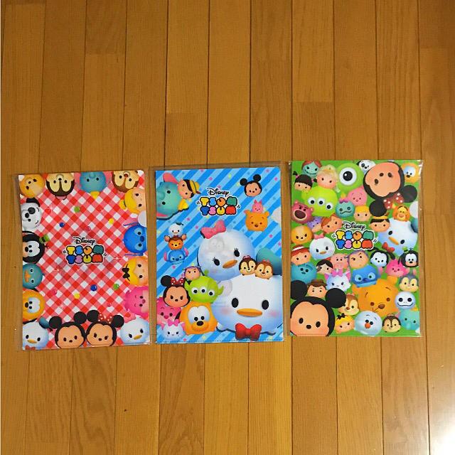 Disney(ディズニー)のDisney ツムツム クリアファイル 3枚セット♡ エンタメ/ホビーのアニメグッズ(クリアファイル)の商品写真