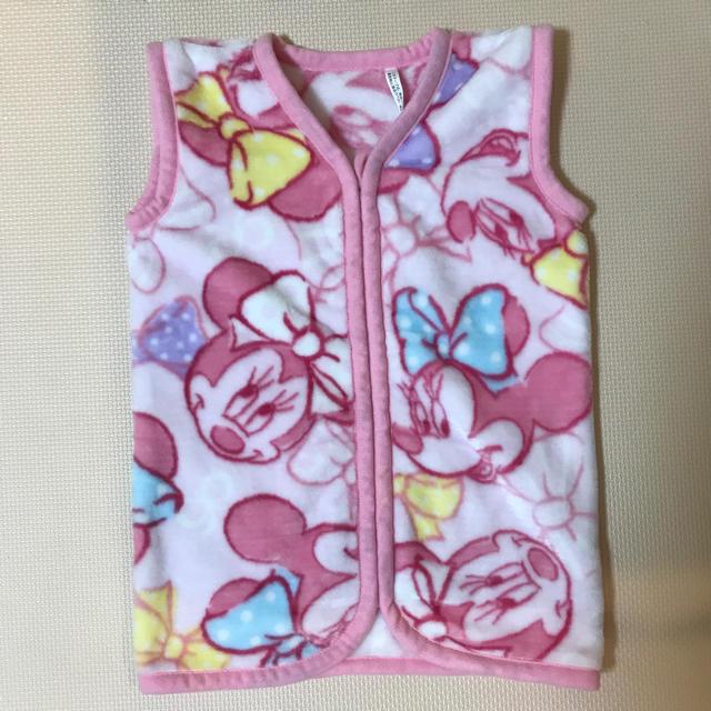 Disney(ディズニー)のミニーちゃん ミニ かいまき 毛布 キッズ/ベビー/マタニティの寝具/家具(毛布)の商品写真