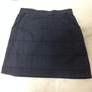 マーキュリーデュオ(MERCURYDUO)のラインチェックミニスカート♡(ミニスカート)