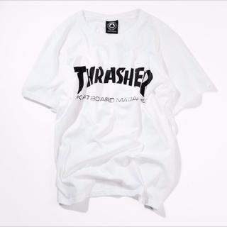 アンドバイピーアンドディー(&byP&D)のスラッシャー Tシャツ 白(Tシャツ/カットソー(半袖/袖なし))