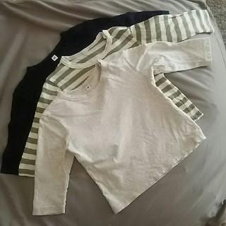 ムジルシリョウヒン(MUJI (無印良品))のm_mama様専用 無印良品 サイズ80 綿100 (Tシャツ/カットソー)
