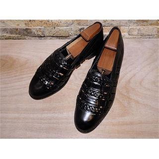 ブルーノマリ(BRUNOMAGLI)の未使用品 ITALY製 Bruno Magli レザーサンダル 黒 27,5cm(ドレス/ビジネス)