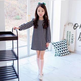 ★おまけつき★ギンガムチェックワンピ チュニック 韓国子供服(ワンピース)