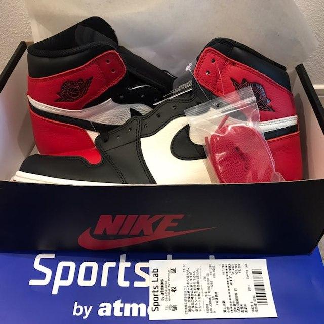 NIKE(ナイキ)の本日値下 ジョーダン 1 RETRO HIGH OG BRED TOE メンズの靴/シューズ(スニーカー)の商品写真
