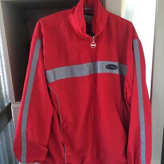 クルー(CRU)のCRU ナイロンジャケット リフレクター ストリート 春物 古着 レッド 赤(ナイロンジャケット)