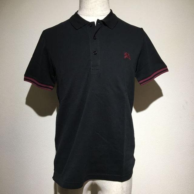 BURBERRY BLACK LABEL(バーバリーブラックレーベル)の新品 タグ付き バーバリー ブラックレーベル ポロシャツ 黒 M メンズ メンズのトップス(ポロシャツ)の商品写真