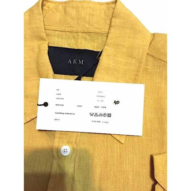 AKM(エイケイエム)の新品タグ付 定価30240円 AKM ドレスシャツ wjk メンズのトップス(シャツ)の商品写真