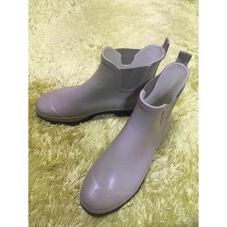 マーガレットハウエル(MARGARET HOWELL)のMHL エムエイチエル 長靴 靴 レインブーツ グレー 24.0(レインブーツ/長靴)