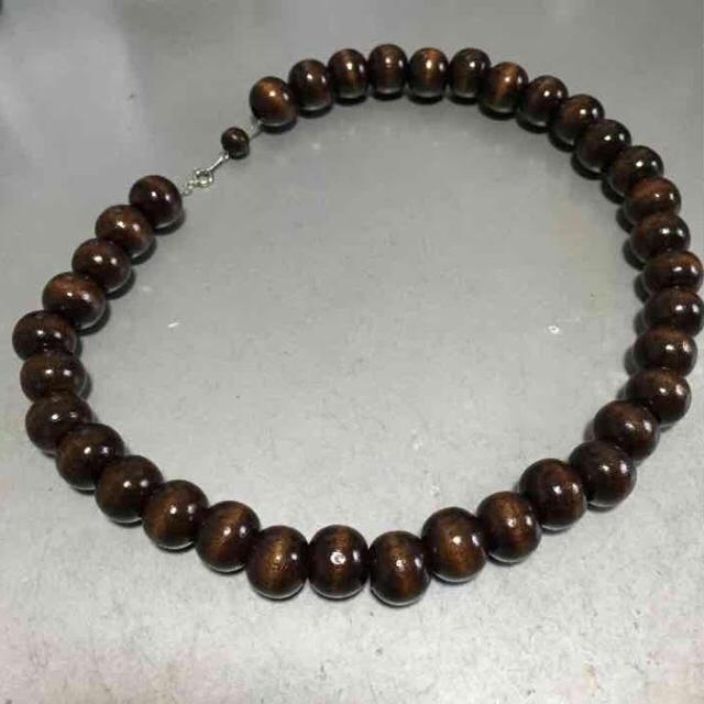 Ken Yokoyama 横山健 着用 木製数珠ネックレス ブラウン 45cm メンズのアクセサリー(ネックレス)の商品写真