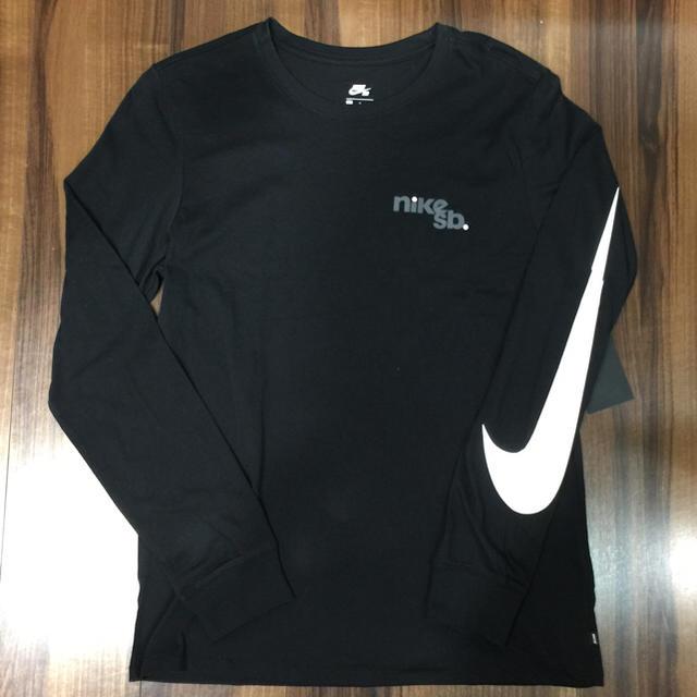 NIKE(ナイキ)の新品未使用✨NIKE SB ナイキ SB ロンT ブラック L メンズのトップス(Tシャツ/カットソー(七分/長袖))の商品写真