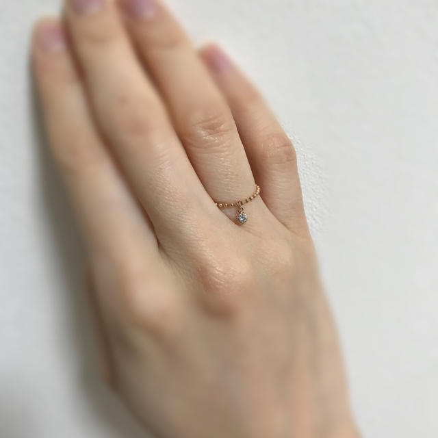 nano・universe(ナノユニバース)の10k ダイヤ ピンクゴールド リング レディースのアクセサリー(リング(指輪))の商品写真