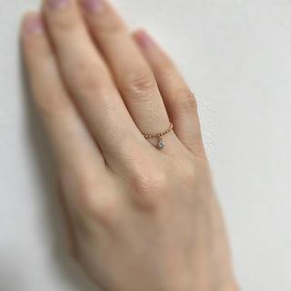 ナノユニバース(nano・universe)の10k ダイヤ ピンクゴールド リング(リング(指輪))